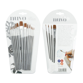 Tonic Studios Nuvo paint brush penselen - Set van 12 - 972N