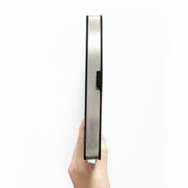Archer & Olive bulletjournal/Notitieboek A5 - 160 pagina's - Dotted - Silver Crescent met zilveren rand