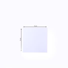 Florence - dubbele kaarten 9 x 9 cm wit - set  van 25