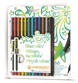 Chameleon Fineliners Bright Colors - set van 12