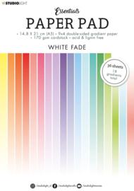 StudioLight Paper Pad Blok A5 - 36 vellen - Gradient White fade nr. 21