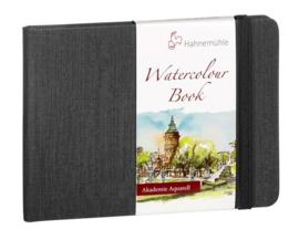 Hahnemühle Grey Watercolour Book A6 landscape - 60 pagina's - Grijze kaft - Wit papier