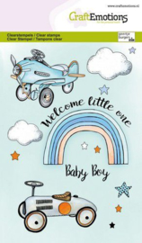 CraftEmotions clearstamps A6 - Babyboy