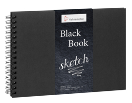 Hahnemühle Black Book Sketch ringband A5 - 30 vellen - Zwarte papier
