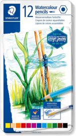 Staedtler Aquarel potloden heldere tinten - set van 12 in metalen blik