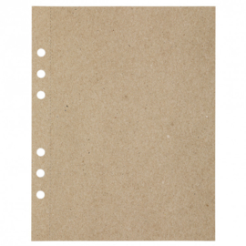 MyArtBook papier A5 - 20 vellen - 110 grams - Recycling Kraft Fluting Grey