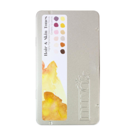 Nuvo watercolour potloden - hair & skin tones 521N - set van 12