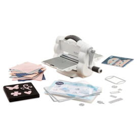 Sizzix Big Shot A5 stansmachine Foldaway Starter Kit - White & Grey
