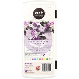 Prima Art Philosophy Metallic Accents Semi-Watercolor aquarelverf - 12 kleuren Pastel