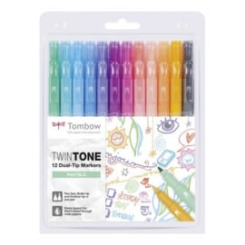 Tombow TwinTone Marker Set - Pastel Colours - Set van 12