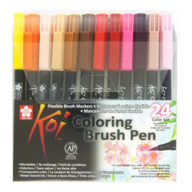 Sakura koi color brush pen set van 24