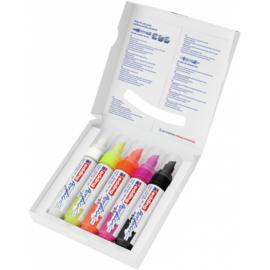 Edding 5000 Acrylmarker breed 5-10mm  - Neon - set van 5