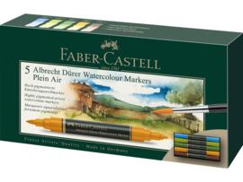 Faber Castell aquarel marker Albrecht Dürer - set van 5 - Urban Plein air