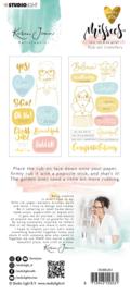 Studio Light Rub on Sticker - Karin Joan Foil Missees Collection nr.03