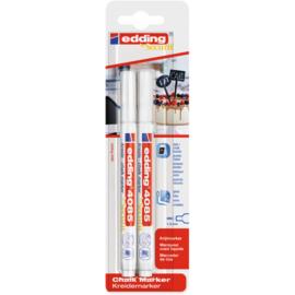 Edding 4085 Raam/krijtstift - rond 1-2 mm - set van 2 - wit