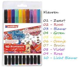 Edding 1340 Brush pennen - set van 10