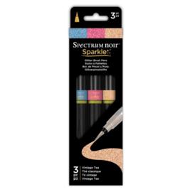 Spectrum Noir Sparkle Brush pen - Vintage Tea - set van 3