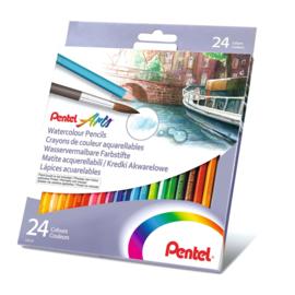 Pentel aquarel potloden - set van 24