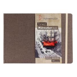 Hahnemühle Beige toned watercolour book A5 landscape - 60 pagina's - Bruine kaft - Beige papier