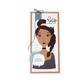 Studio Light Clear Stamp & Die Cut 11,5 x 24 cm Karin Joan - Primarina Missees Collection nr.06 - Starter set
