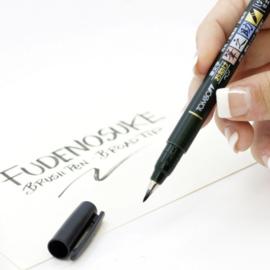 Tombow Fudenosuke Brush Pen / kalligrafie - zacht WS-BS - zwart