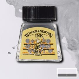 Winsor & Newton Vloeibare inkt 14 ml - Zilver