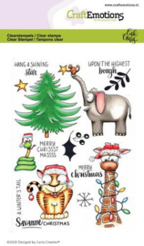 CraftEmotions clearstamps A6 - Savanne Christmas - Carla Creaties