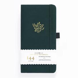 Archer & Olive bulletjournal/Notitieboek 11x 21cm - 144 pagina's - Dotted - Traveler's Deep Green