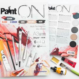 Clairefontaine Paint-ON Multi-Technique mixed media A4 - 6 x 4 vellen - 250 grams - mix papier