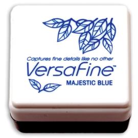 Tsukineko VersaFine inktpad 3 x 3 cm - watervaste inkt -  Majestic blue