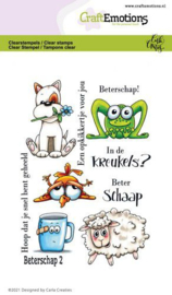 CraftEmotions clearstamps A6 - Beterschap 2 - Carla Creaties