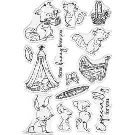 Crafter's Companion Lee Holland Clearstamp & Die - Family Time - set van 26