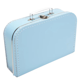 Opbergkoffertje lichtblauw 30 x 21 x 9 cm
