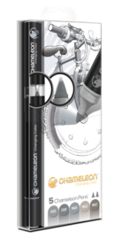 Chameleon Alcohol based Pens - Gray Color Tones - set van 5
