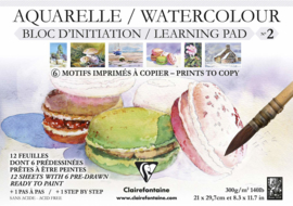 Clairefontaine Initiation nr 2 Aquarelpapier wit - 12 vellen 300 grams papier - A4