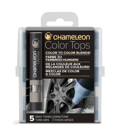 Chameleon Alcohol based Color Tops - Gray Tones - set van 5