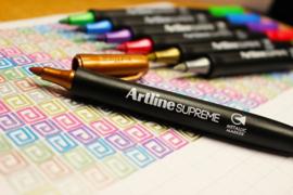 Artline Supreme metallic marker - roze