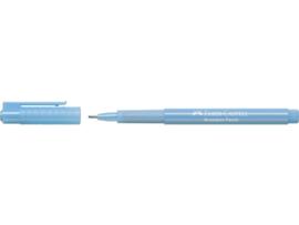Fineliner Faber-Castell Broadpen Pastel 0.8mm - licht blauw