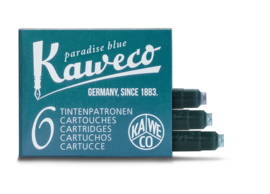 Kaweco inktpatronen - set van 6 - Paradise Blue