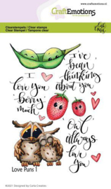 CraftEmotions clearstamps A6 - Love Puns 1 - Carla Creaties