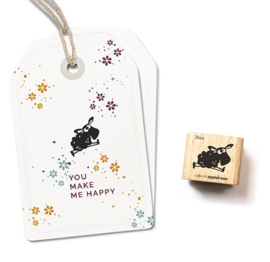 Cats on Appletrees - Houten stempel - 20x20mm - Thea the Lamb