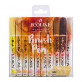 Talens Ecoline Brush Pen - set van 10 - Huid