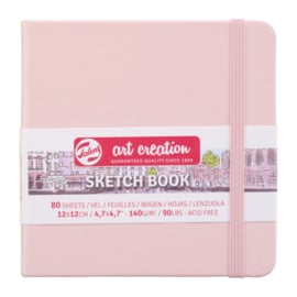 Talens art creation Brush / Schetsboek 12 x 12 cm  - 80 vellen - Pastel Pink