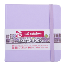 Talens art creation Brush / Schetsboek 12 x 12 cm - 80 vellen - Pastel Violet