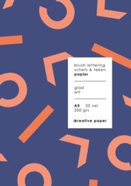 CKREATIVE Brushlettering & Teken blok A5 - 25 vellen 200 grams - by Carla Kamphuis