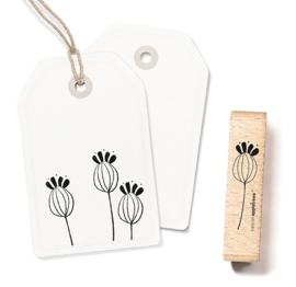 Cats on Appletrees - Houten stempel - 60x15mm - Plant 11