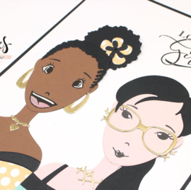 Studio Light Clear Stamp & Die Cut A6 Karin Joan - Betty Missees  Collection nr.03 - Basis set