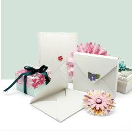 Vaessen Kaarten en enveloppen maker + vouwbord +  hoekpons - 18 x 14 cm