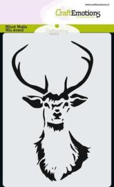 CraftEmotions Mask stencil kop rendier  - A6