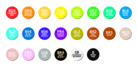 Chameleon Alcohol based Pens - Deluxe Color Tones - set van 22